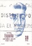 Stamps : Europe : Spain :   Antonio Soler  (40)