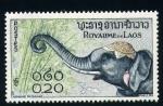 Sellos del Mundo : Asia : Laos : elefante con adorno