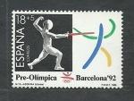 Stamps Spain -  Esgrima