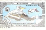 Sellos del Mundo : Asia : Mongolia : Pelecanus onocrotalus