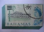 Stamps Bahamas -  Queen Elizabeth II - High School - Escuela Secundaria - Sello Sobrecargado..