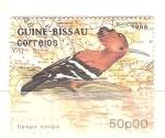 Sellos de Africa - Guinea Bissau -  upupa epops