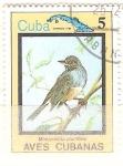Sellos del Mundo : America : Cuba : mimocichla  plumbea
