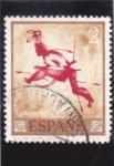 Stamps : Europe : Spain :  pintura rupestre (40)