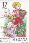 Stamps Spain -  la vendimia  (40)