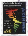 Stamps of the world : Bolivia :  cumbre de las Americas sobre Desarrollo Sostenible