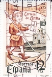 Stamps Spain -  correo a pies. XIV(40)