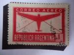 Stamps Argentina -  Aeroplano y Carta - Serie: Correo Aéreo.