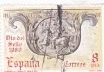 Stamps : Europe : Spain :  Día del sello- correo a caballo   (40)
