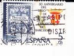 Stamps Spain -  50 aniversario del sello de recargo exposición de Barcelona  (40)