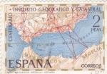 Stamps Spain -  1º centenario Instituto  Geográfico y Catastral  (40)