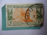 Stamps : Africa : Benin :  República de Dahomey - Pescador en la Laguna.
