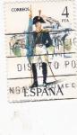 Stamps Spain -  Abanderado real Cuerpo de Artillería  (41)