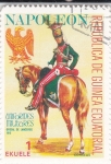 sello : Africa : Guinea_Ecuatorial : oficial de lanceros 1815