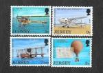 Sellos del Mundo : Europa : Reino_Unido : 81-84 - Historia de la Aviación Antes de 1939