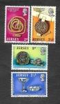 Sellos del Mundo : Europa : Reino_Unido : 77-80 - Centenario de la Sociedad de Jersey (Museo de S. Helier)