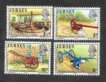Sellos del Mundo : Europa : Reino_Unido : 120-123 - Herramientas de Cultivo (S.XIX)