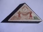 Stamps of the world : Republic of the Congo :  Portadores del Palenquin- Hamaca.
