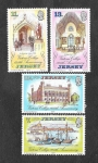 Sellos del Mundo : Europa : Reino_Unido : 179-182 - 125º Aniversario del Colegio Victoria