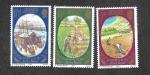 Stamps of the world : United Kingdom :  226-228 - Centenario de la Patata en Jersey