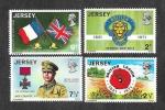 Sellos del Mundo : Europa : Reino_Unido : 53-56 - L Aniversario de la Legión Britanica
