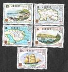 Sellos del Mundo : Europa : Reino_Unido : 190-194 - Enlaces Marítimos entre Jersey y Canadá