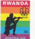 Sellos del Mundo : Africa : Rwanda : Olimpiada Montreal-76