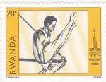 Stamps : Africa : Rwanda :  Olimpiada Moscú-80