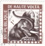 Sellos del Mundo : Africa : Burkina_Faso : elefante
