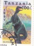 Sellos del Mundo : Africa : Tanzania : animales prehistóricos- Iguanodon