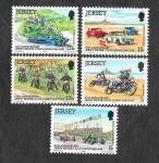 Sellos del Mundo : Europa : Reino_Unido : 231-235 - LX Aniversario del Automóvil Club de Jersey