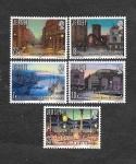Sellos del Mundo : Europa : Reino_Unido : 275-279 - 150 Aniversario de la Introducción del Gas en Jersey