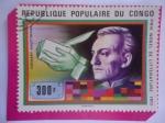 de Africa - República del Congo -  Gerhart Hauptmann (1862-1946) Premio Nobel de Literatura (1912)-Dramaturgo Aleman (Literatura)