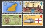 Stamps of the world : United Kingdom :  111-114 - Centenario de la Unión Postal Universal
