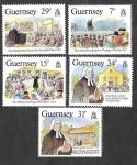 Stamps United Kingdom -  362-366 - Bicentenario de la Visita a la Isla de John Wesley