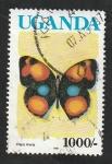 Sellos del Mundo : Africa : Uganda :  686 - Mariposa, Precis Hierta