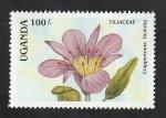 Sellos del Mundo : Africa : Uganda :  509 - Flor, Clappertonia ficifolia