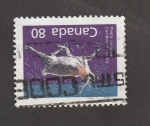 Stamps : America : Canada :  Caribú de Peary