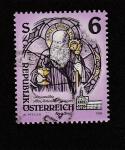 Stamps : Europe : Austria :  Pintura en cristalera de Gwiggen
