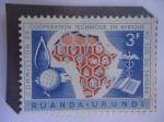 de Africa - Uganda -  Uganda-Urundi - 10°Aniversario de la Comisión de Cooperación Técnica-