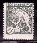 Stamps Czechoslovakia -  1º aniv. de la Independencia