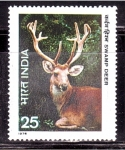 Stamps India -  serie- Fauna salvaje