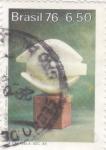 Sellos de America - Brasil -  caravela siglo XX