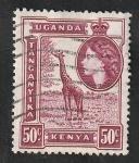 Sellos de Africa - Uganda -  94 - Elizabeth II, y Jirafa