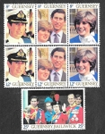 Stamps : Europe : United_Kingdom :  224-226 - Boda Real
