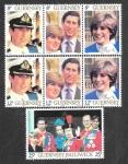 Sellos del Mundo : Europa : Reino_Unido : 224-226 - Boda Real