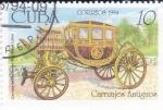 sello : America : Cuba : carruajes antiguos
