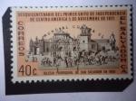 Sellos del Mundo : America : El_Salvador : Iglesia Parroquial, de San salvador 1808- Sesquicentenario del Primer Grito  de Indepensencia de cen