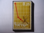 Stamps Israel -  Erradicación del Paludismo- Malaria - Organización Mundial de la Salud- O.M.S.