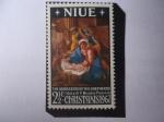 Sellos del Mundo : Oceania : Nueva_Zelanda : Navidades 1967- Pastores Adorando al Niño. Oleo del Francés: Nicolas Paussin (1594-1665)